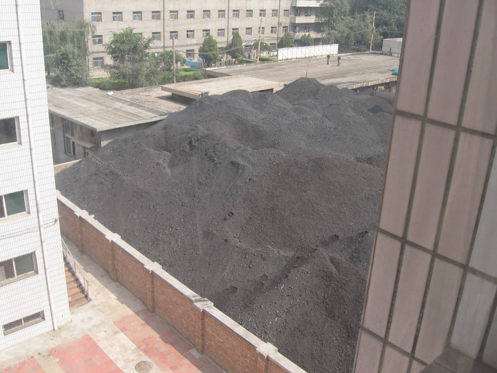 View from a chinese university – next to the coal mountain