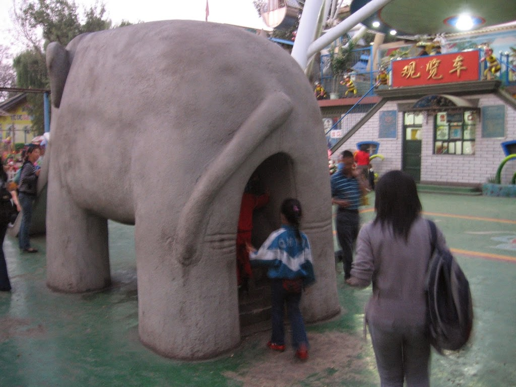 Chinese playground and chinese stairs to a slide
