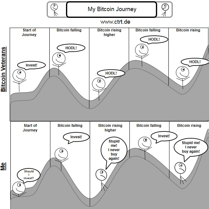 My bitcoin journey. Always investing at the wrong moment.